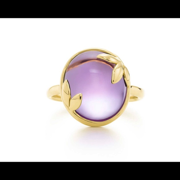 8a7ee6230 Tiffany & Co. Jewelry | Authentic Tiffany Co 18k Gold Amethyst Ring ...